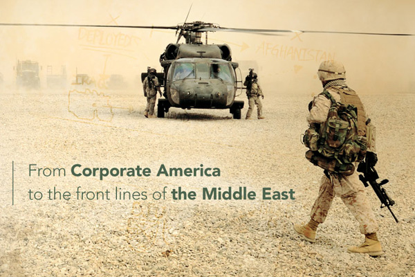 From Corporate America to the front lines of the Middle East: Morris Franklin